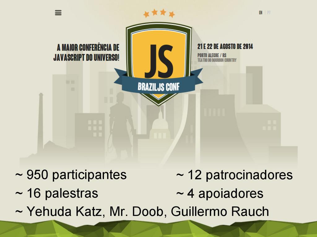 ~ 950 participantes ~ 16 palestras ~ Yehuda Kat...