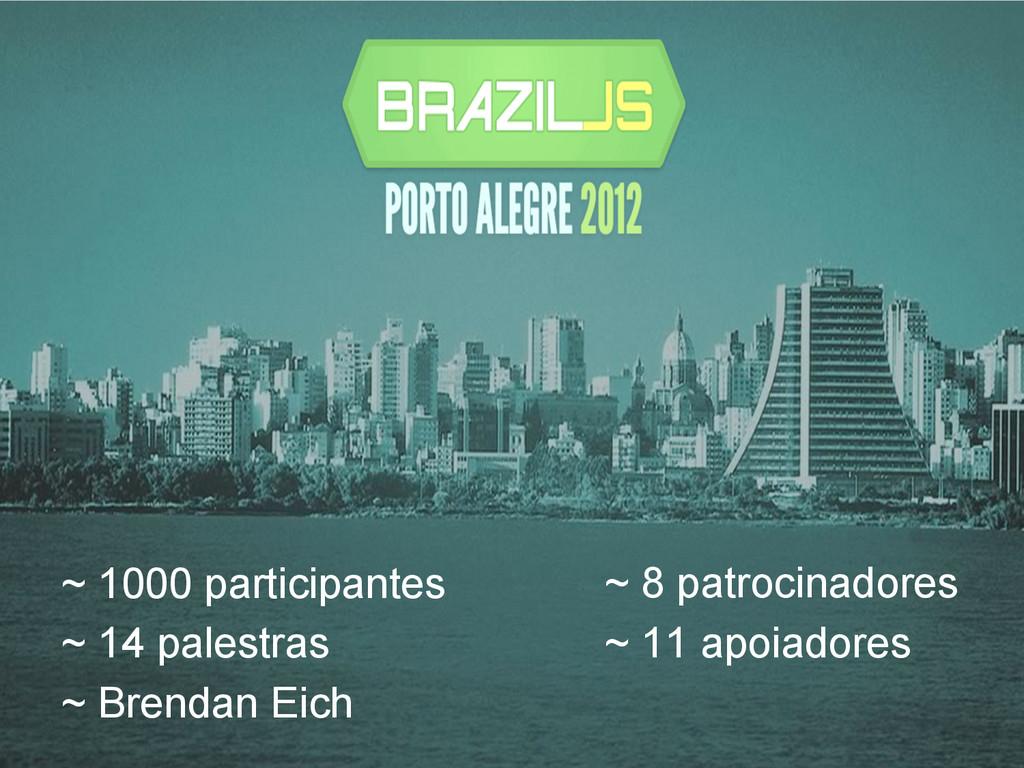 ~ 1000 participantes ~ 14 palestras ~ Brendan E...