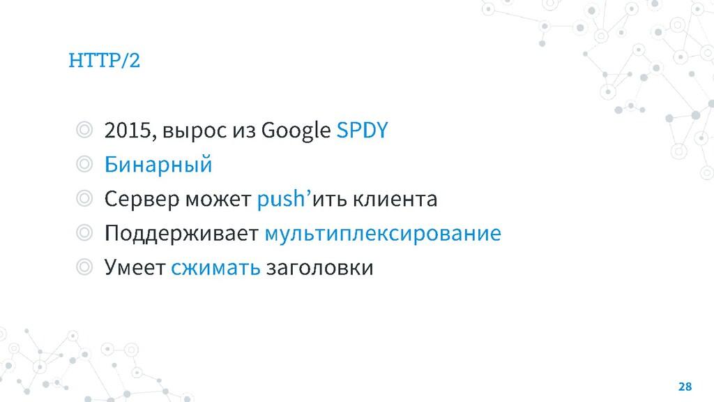 HTTP/2 ◎ ◎ ◎ ◎ ◎