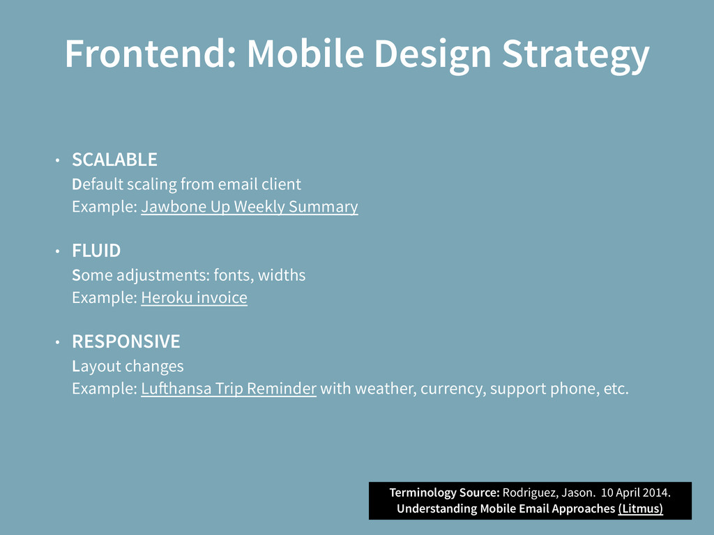 Frontend: Mobile Design Strategy • SCALABLE