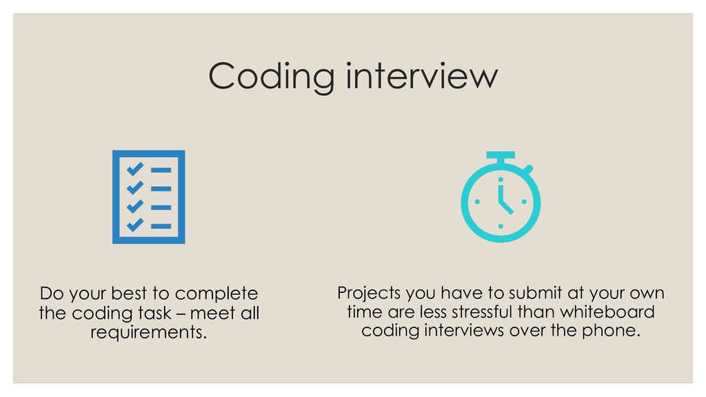 Coding interview Do your best to complete the c...