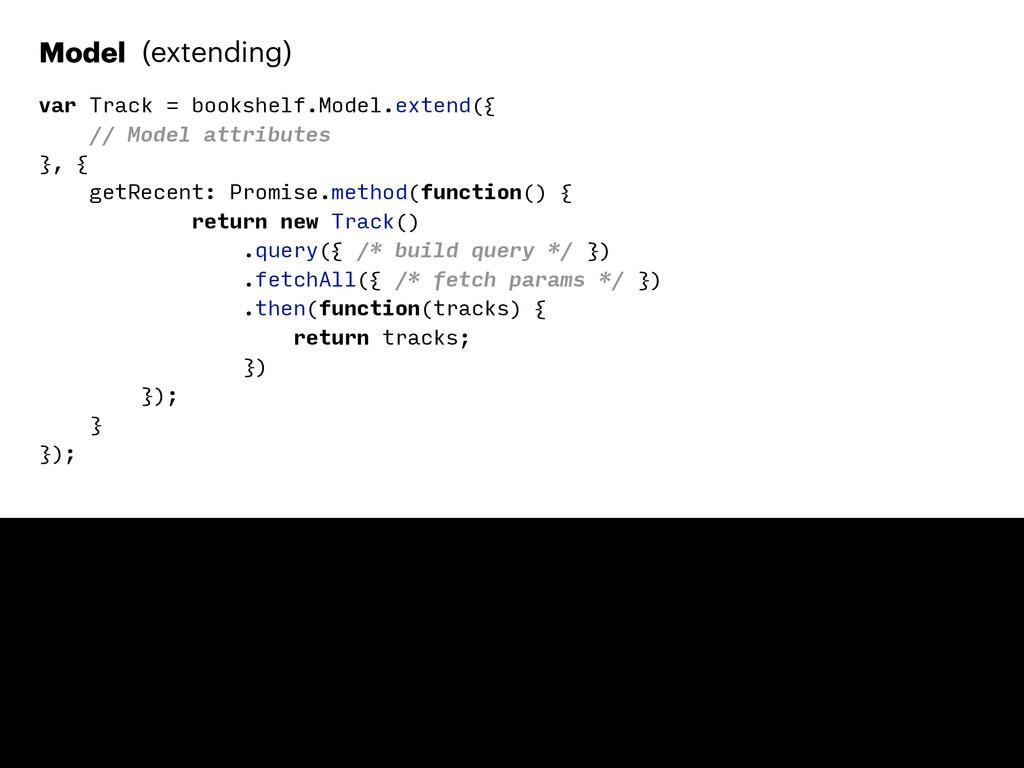 Model (extending) var Track = bookshelf.Model.e...