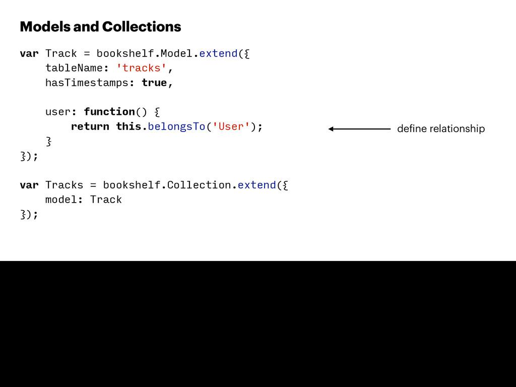 var Track = bookshelf.Model.extend({ tableName:...