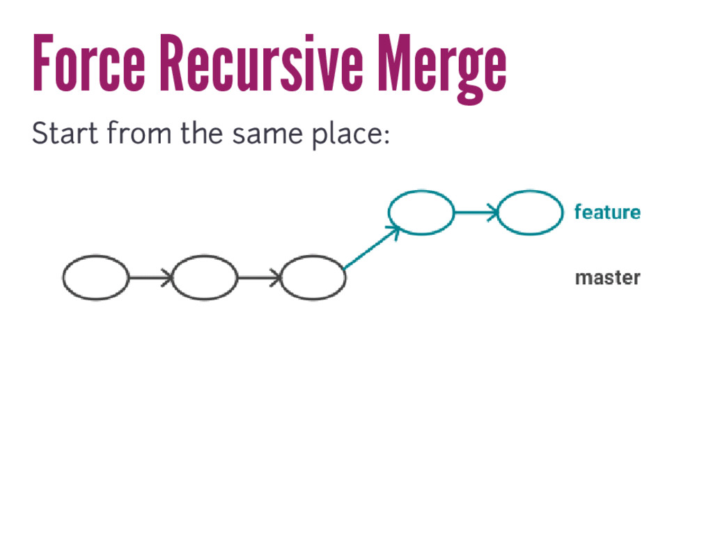 Force Recursive Merge Start from the same place: