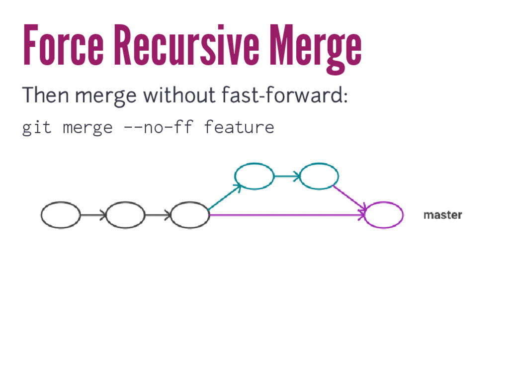 Force Recursive Merge Then merge without fast-f...