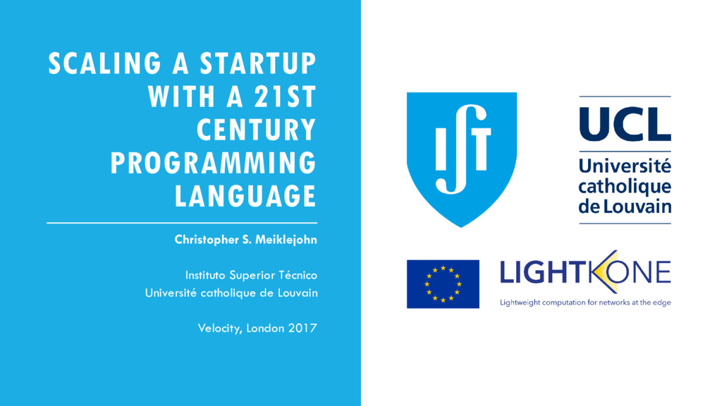 SCALING A STARTUP WITH A 21ST CENTURY PROGRAMMI...