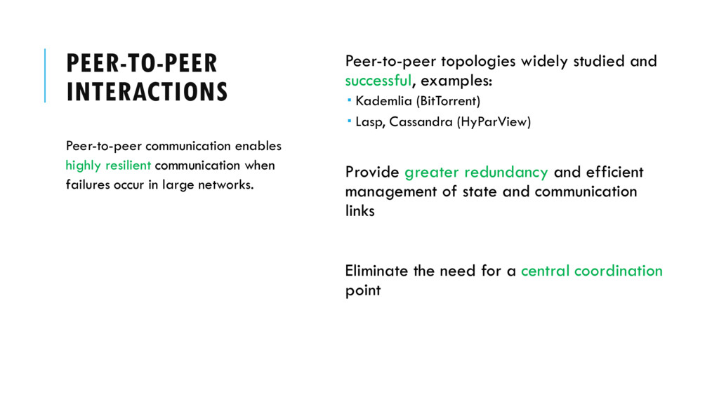 PEER-TO-PEER INTERACTIONS Peer-to-peer topologi...