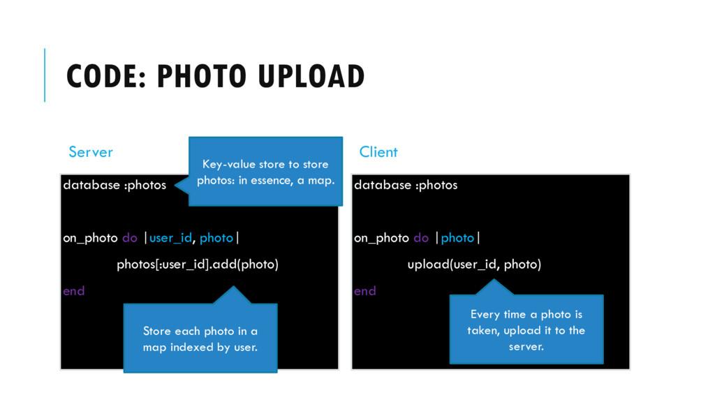 CODE: PHOTO UPLOAD Server database :photos on_p...
