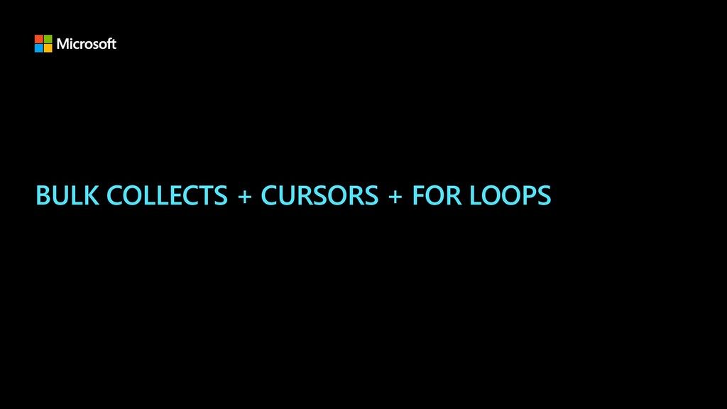 BULK COLLECTS + CURSORS + FOR LOOPS
