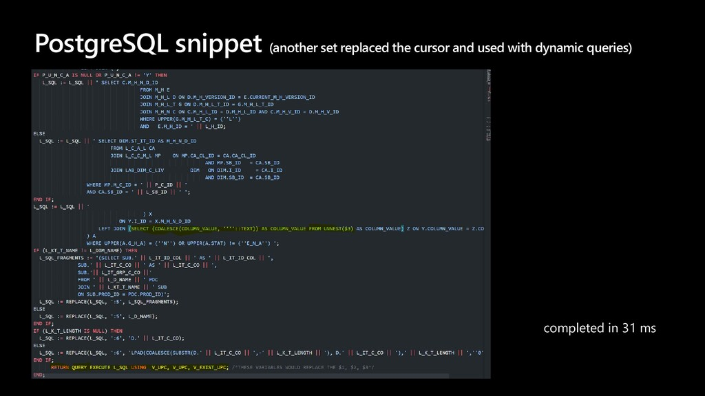 PostgreSQL snippet (another set replaced the cu...