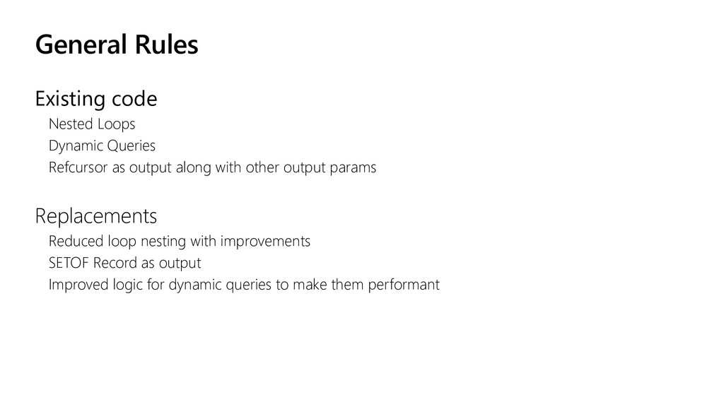 General Rules Existing code Nested Loops Dynami...