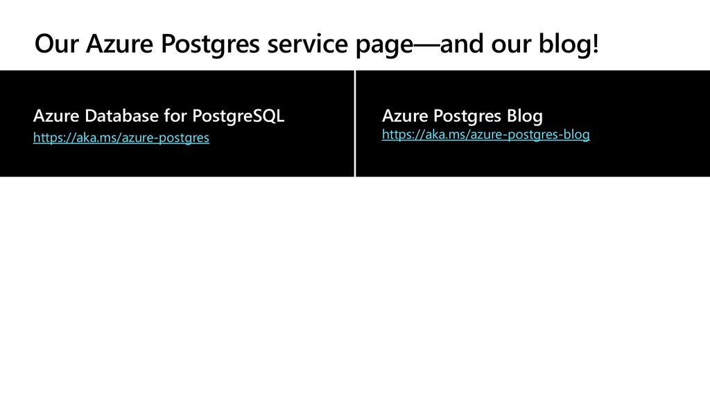 Our Azure Postgres service page—and our blog! A...