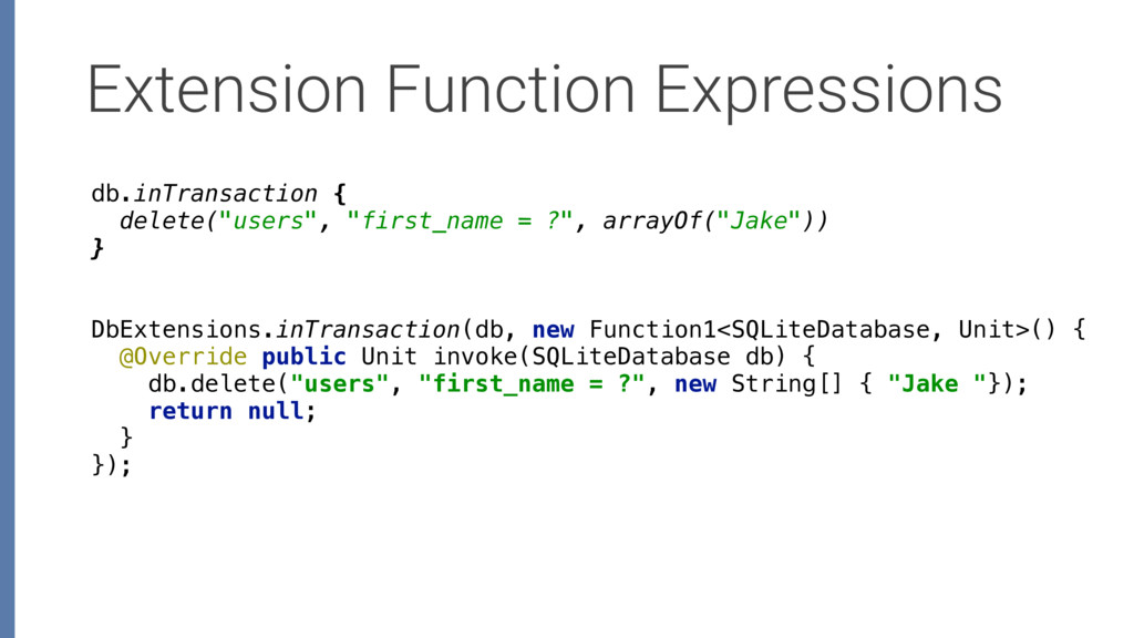 Extension Function Expressions DbExtensions.inT...