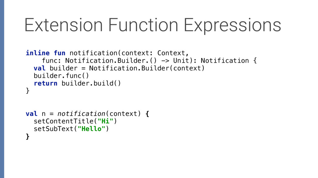 Extension Function Expressions inline fun notif...