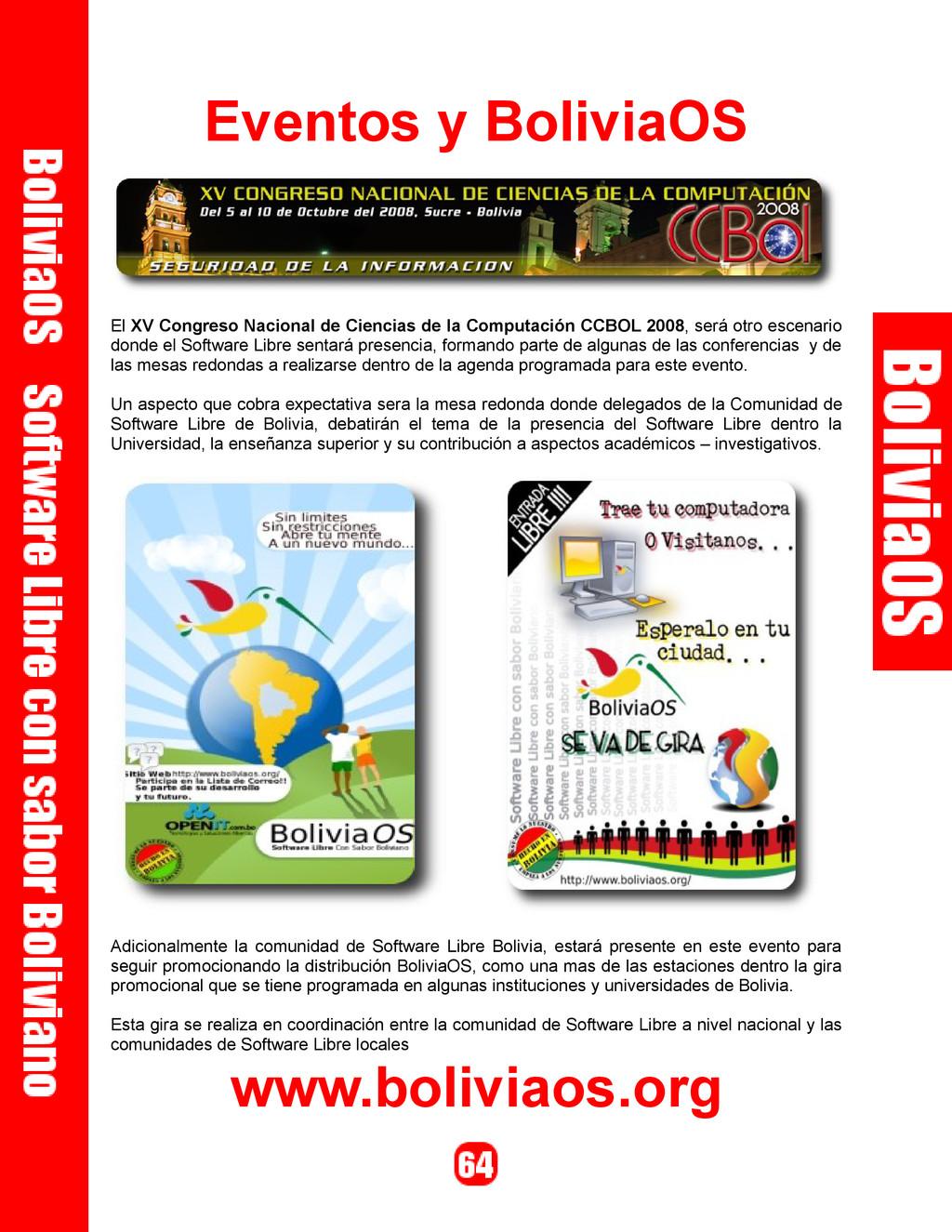 Eventos y BoliviaOS El XV Congreso Nacional de ...
