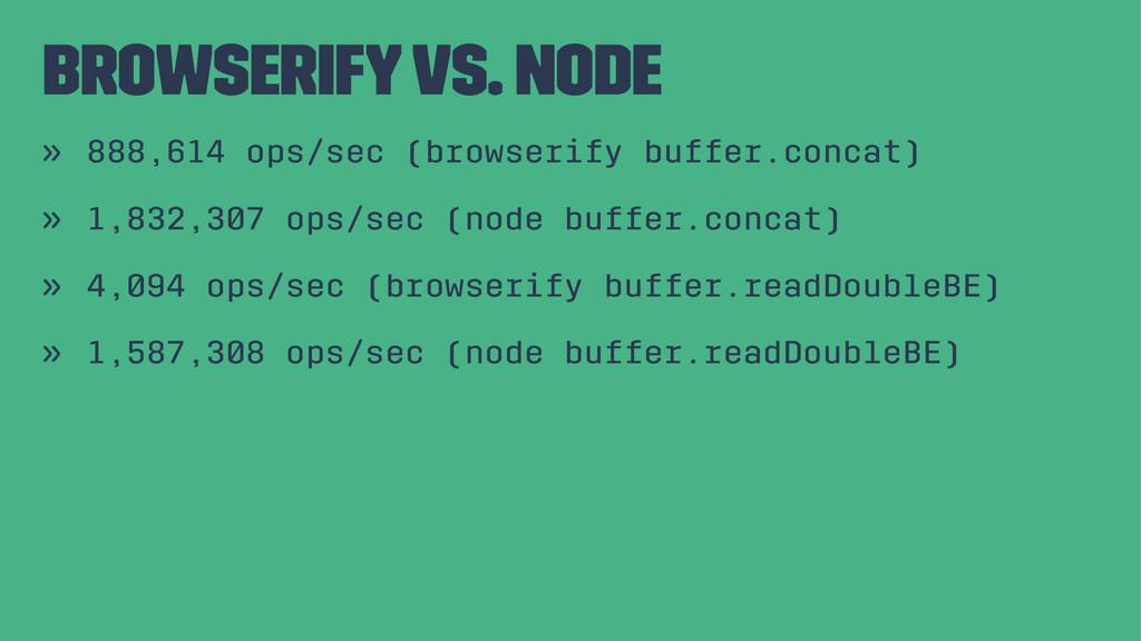 Browserify vs. Node » 888,614 ops/sec (browseri...