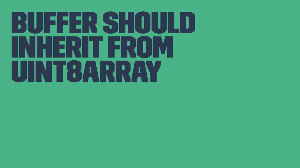 Buffer should inherit from Uint8Array