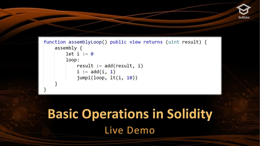Basic Operations in Solidity Live Demo