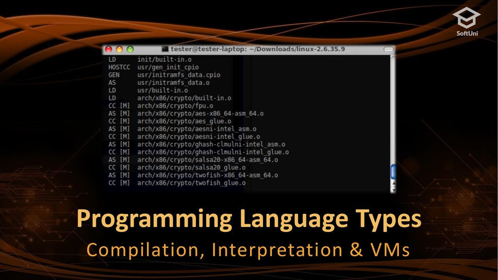 Programming Language Types Compilation, Interpr...