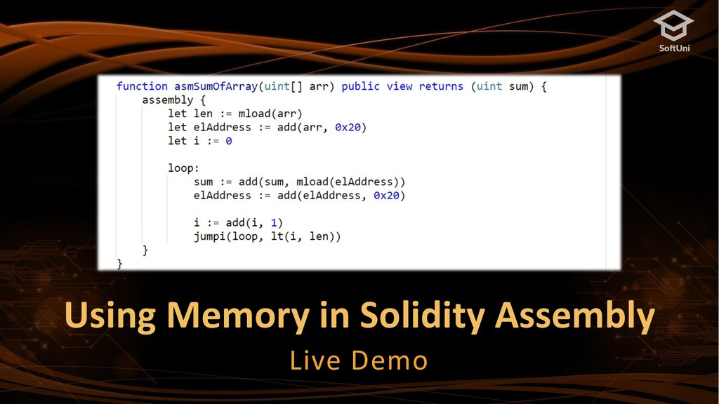 Using Memory in Solidity Assembly Live Demo