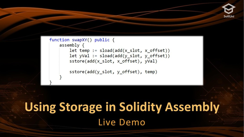 Using Storage in Solidity Assembly Live Demo