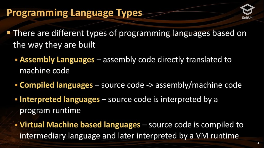 4 ▪ There are different types of programming la...