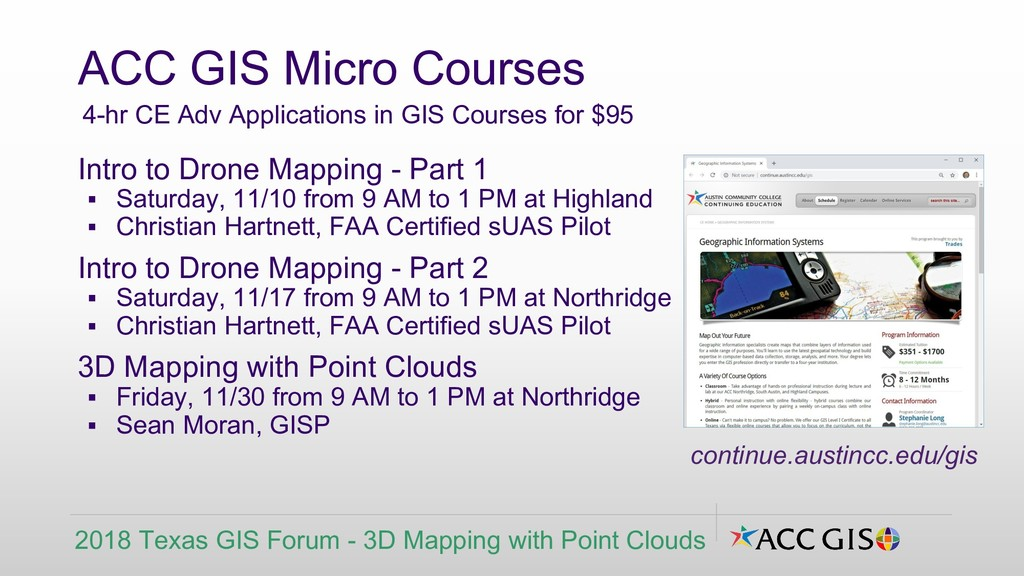 Intro to Drone Mapping - Part 1 ▪ Saturday, 11/...