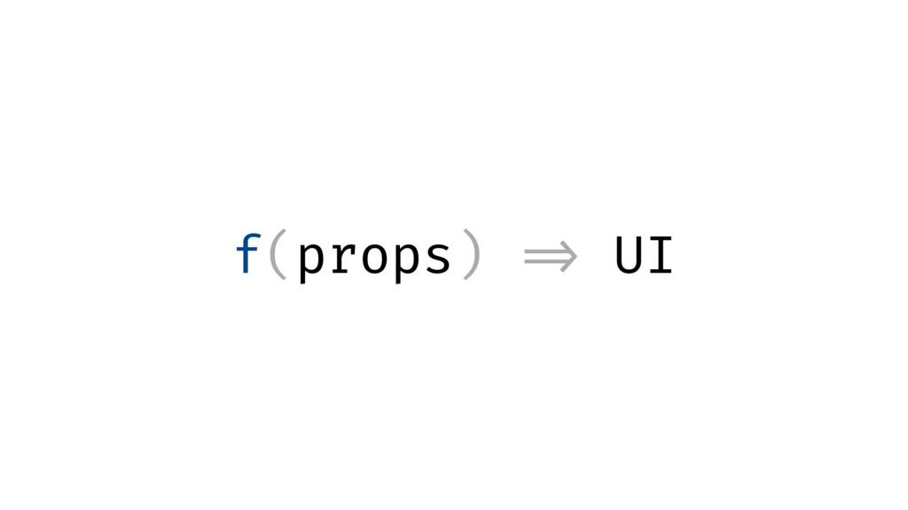f(props) => UI