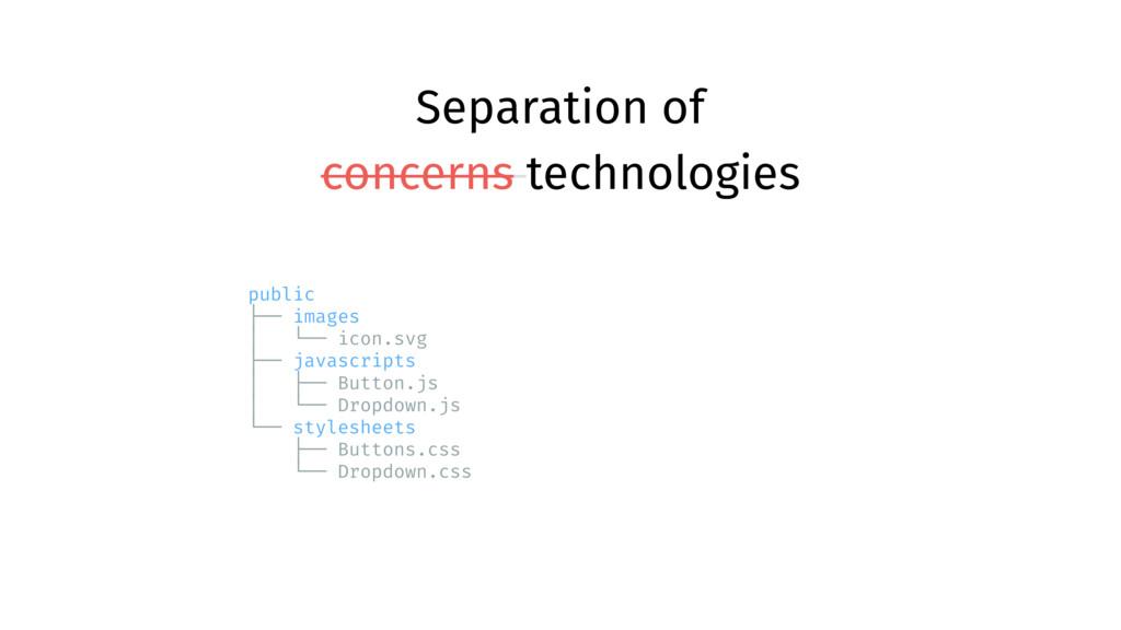 Separation of concerns technologies public ├── ...