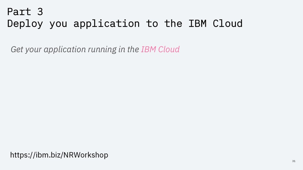 Part 3 Deploy you application to the IBM Cloud ...