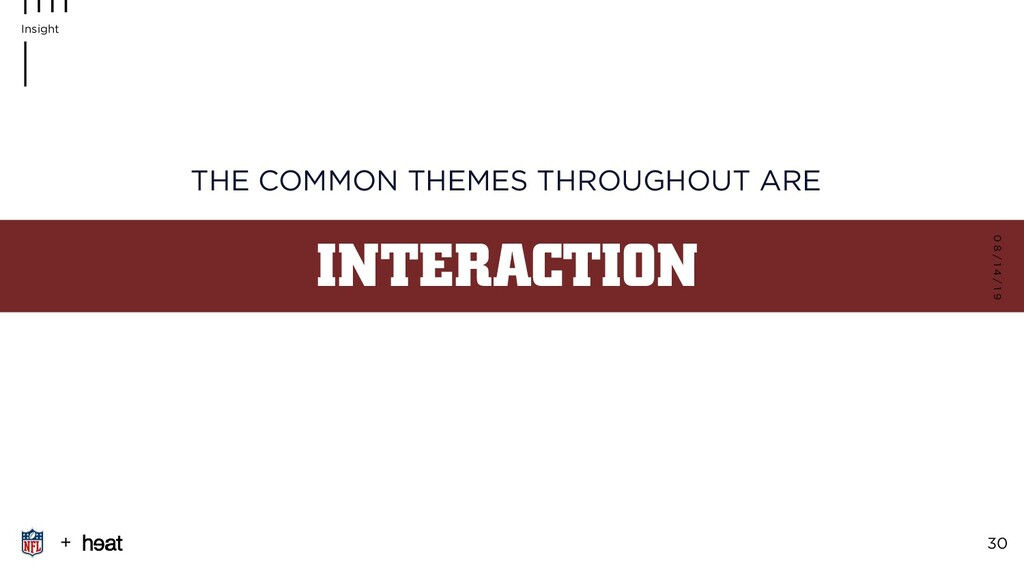 INTERACTION THE COMMON THEMES THROUGHOUT ARE 0 ...