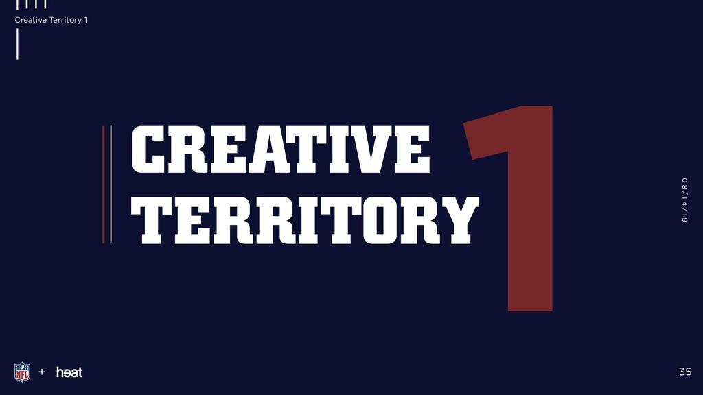 1 + CREATIVE TERRITORY 0 8 / 1 4 / 1 9 35 Creat...