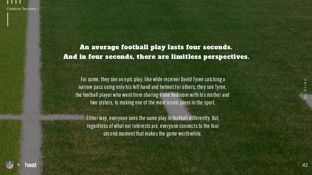 An average football play lasts four seconds.  ...