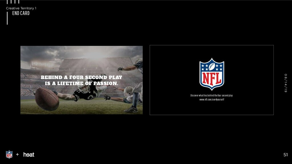 END CARD BEHIND A FOUR SECOND PLAY  IS A LIFET...