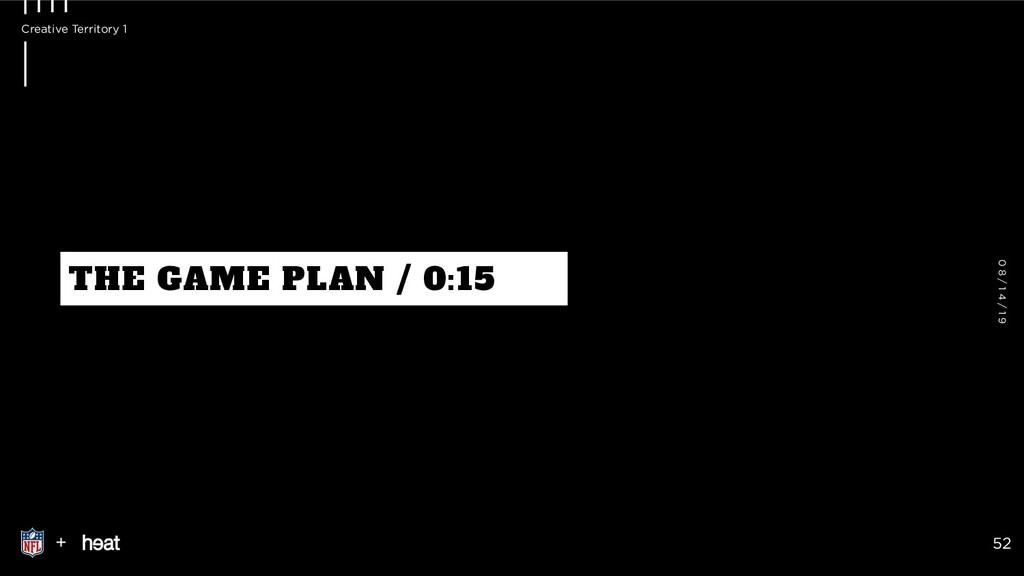 THE GAME PLAN / 0:15 + 52 0 8 / 1 4 / 1 9 Creat...