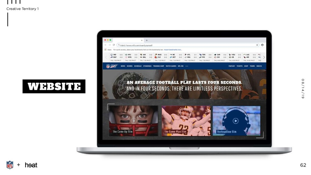 WEBSITE html://www.nfl.com/see4yourself 0 8 / 1 ...