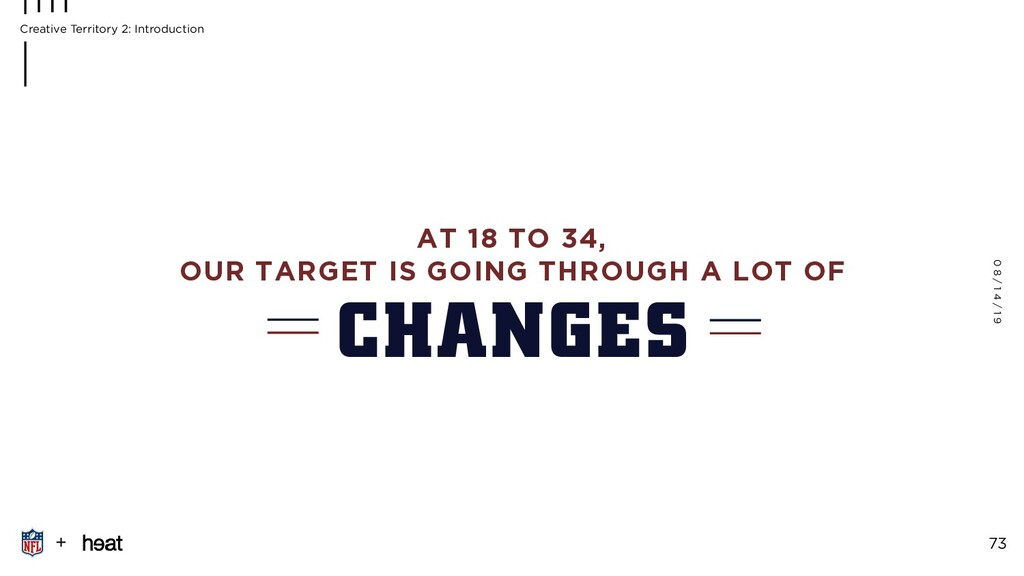 AT 18 TO 34, OUR TARGET IS GOING THROUGH A LOT ...