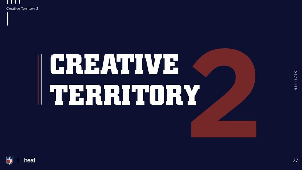 2 + 77 CREATIVE TERRITORY 0 8 / 1 4 / 1 9 Creat...