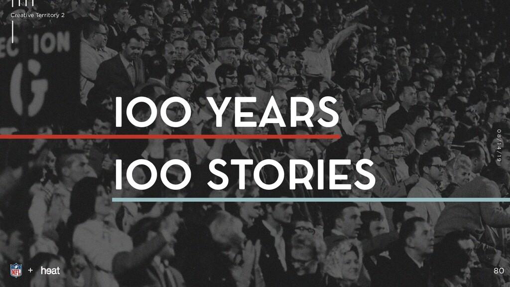 IOO YEARS IOO STORIES + 80 Creative Territory 2...