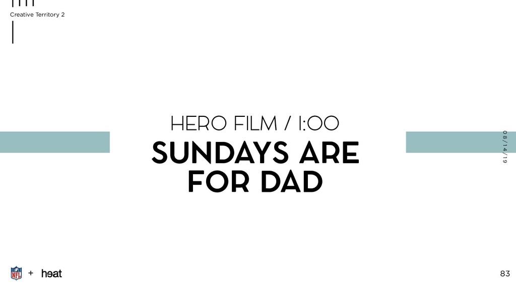 + 83 0 8 / 1 4 / 1 9 HERO FILM / I:OO SUNDAYS A...