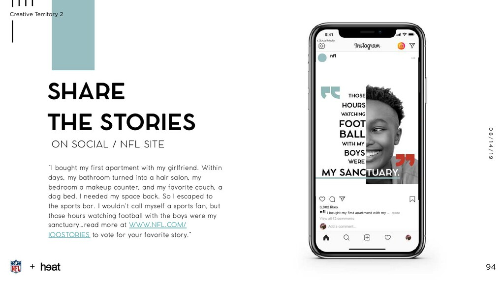 ON SOCIAL / NFL SITE SHARE THE STORIES 0 8 / 1 ...