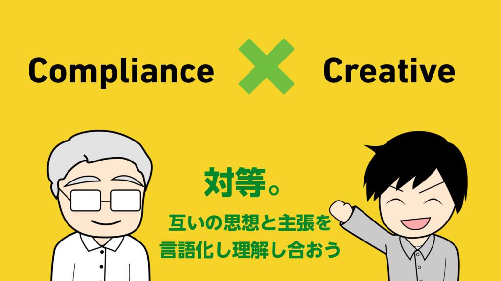 Compliance Creative × ରɻ ޓ͍ͷࢥͱओுΛ ݴޠԽ͠ཧղ͠߹͓͏