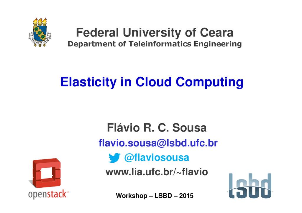 Federal University of Ceara Department of Telei...