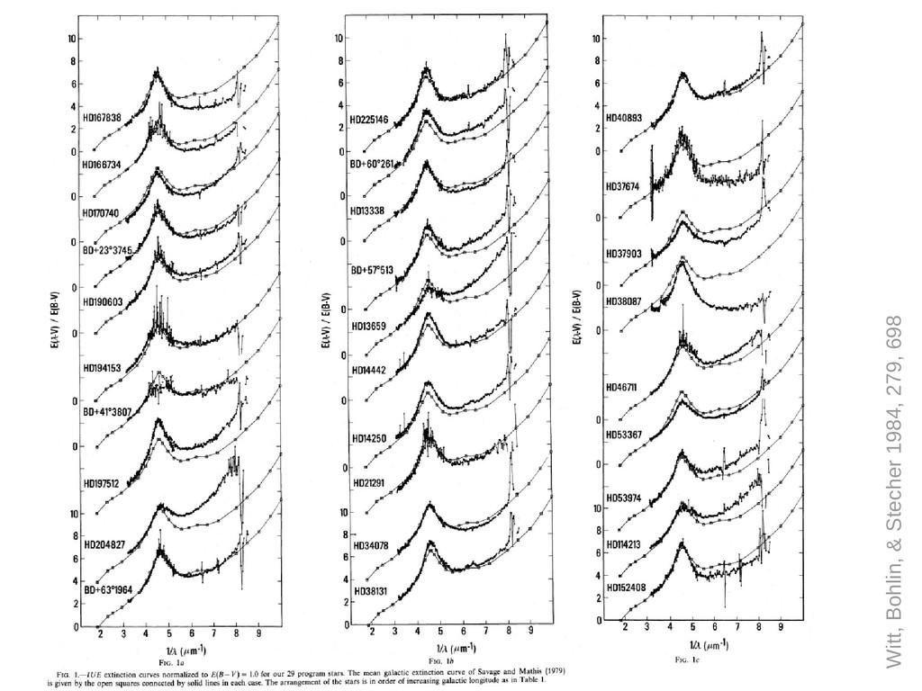Witt, Bohlin, & Stecher 1984, 279, 698