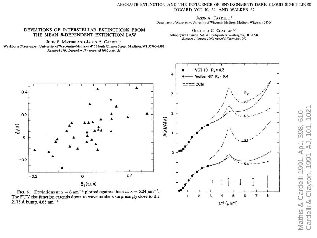 Mathis & Cardelli 1991, ApJ, 398, 610 Cardelli ...