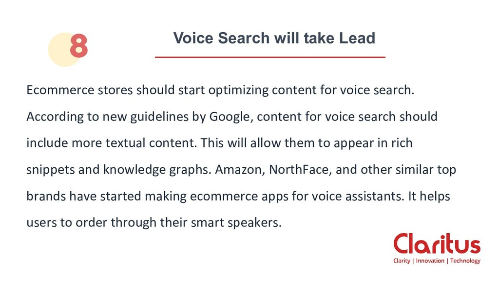 Voice Search will take Lead Ecommerce stores sh...
