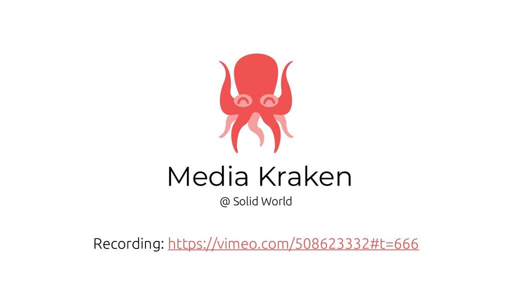 Media Kraken @ Solid World Recording: https://v...