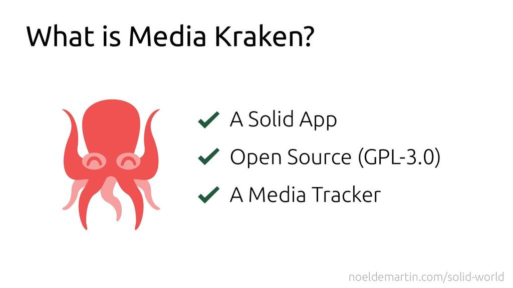 What is Media Kraken? A Solid App Open Source (...