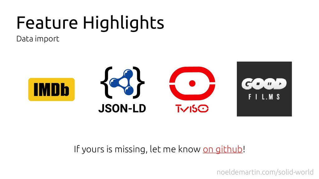 Feature Highlights Data import If yours is miss...