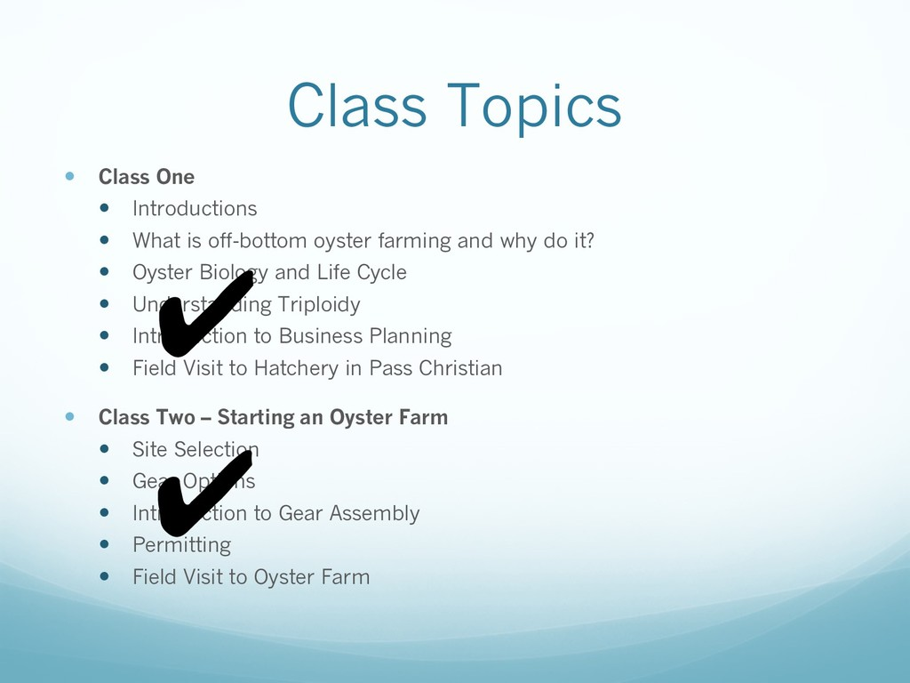 Class Topics — Class One — Introductions — What...